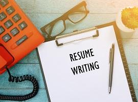 Five resume-writing tips image