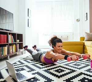 Five online resources to stay active at home image