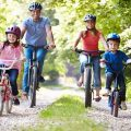 Family,On,Cycle,Ride,In,Countryside