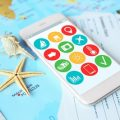 Modern,Technology,And,Tourism,Concept.,Travel,Apps,For,Smartphone